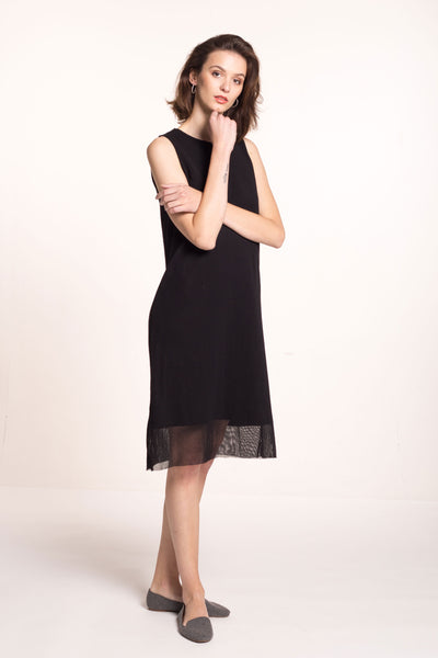 Sustainable Two layer tulle dress _ Mila.Vert