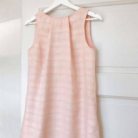 Linen pleat detail dress