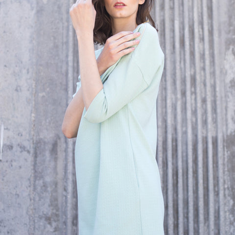 Sleeve detail dress in mint