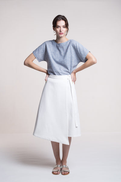 Sustainable Wrap skirt _ Mila.Vert