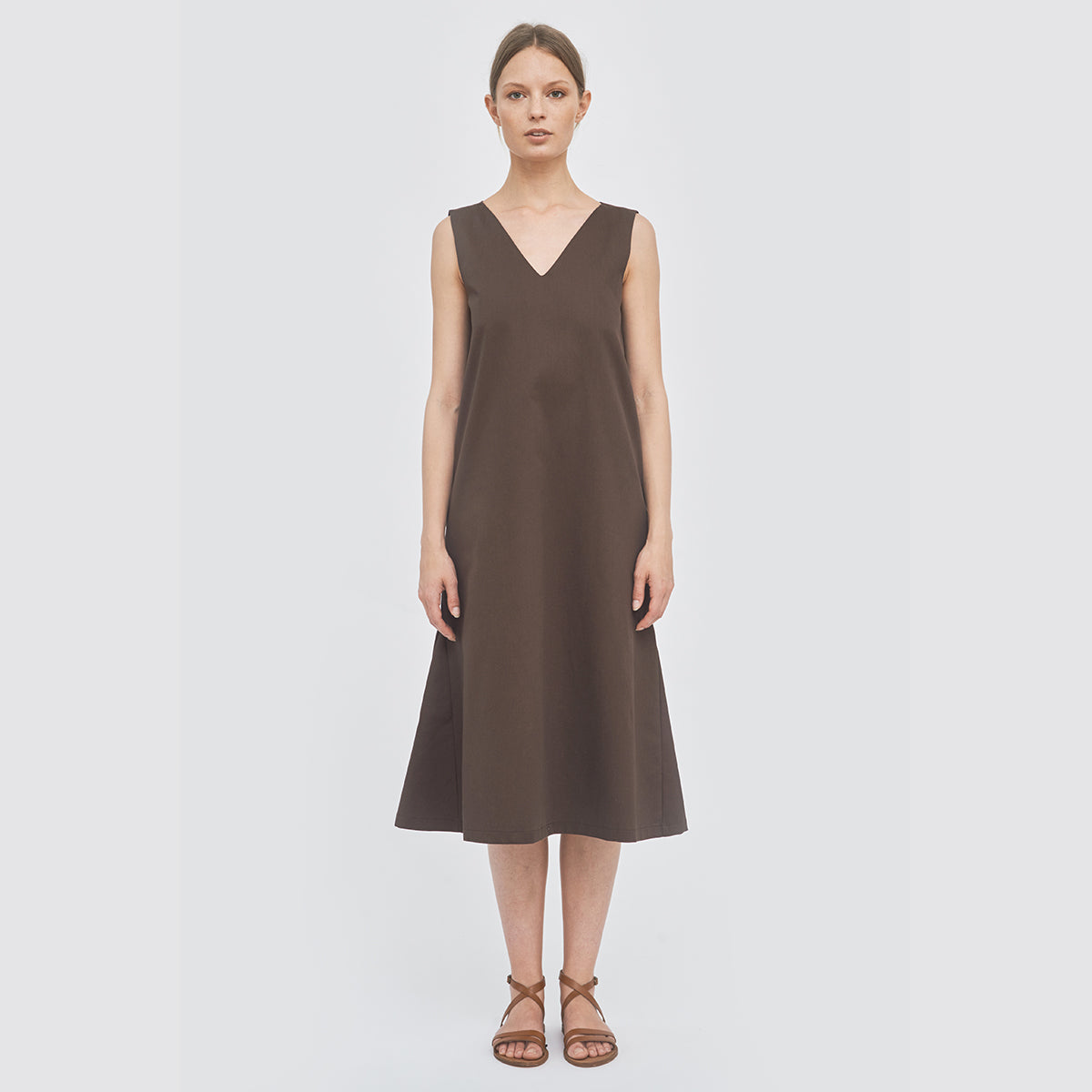 Sustainable Side triangle dress _ Mila.Vert