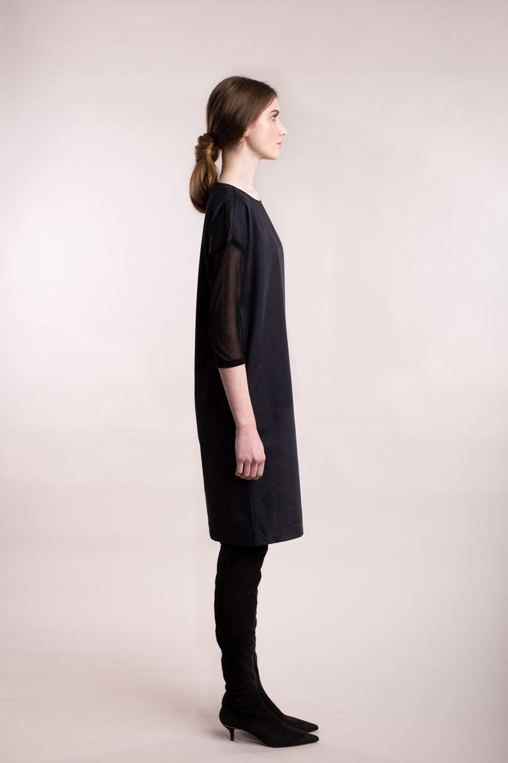 Sustainable Tulle-sleeve dress _ Mila.Vert
