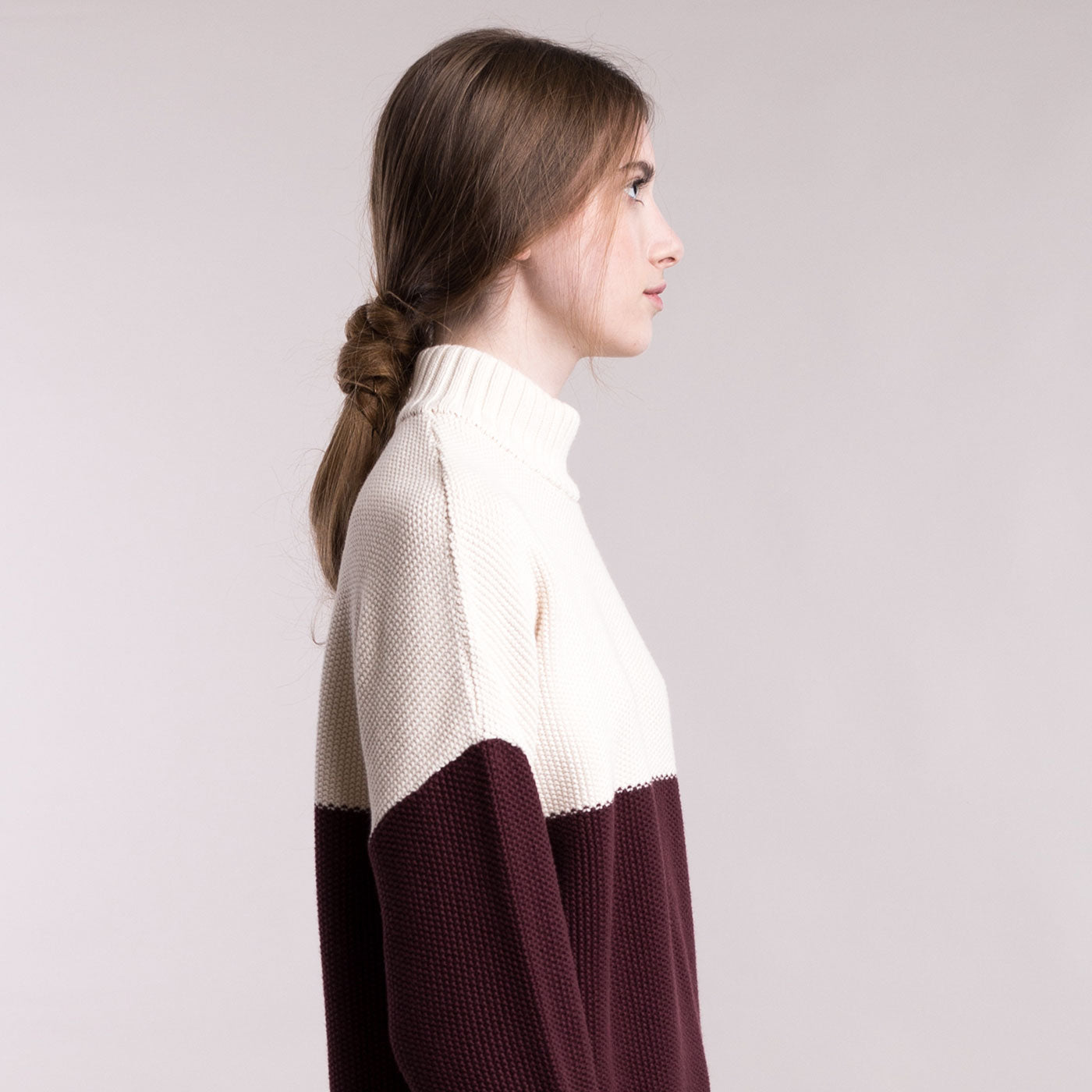Sustainable Knitted double-colour pullover _ Mila.Vert