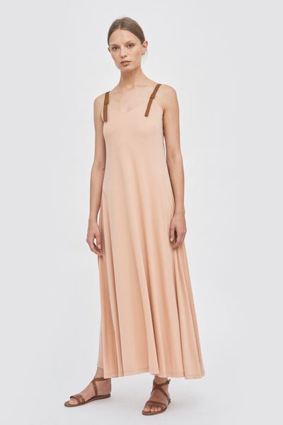 Sustainable summer maxi tencel dress _ in blush