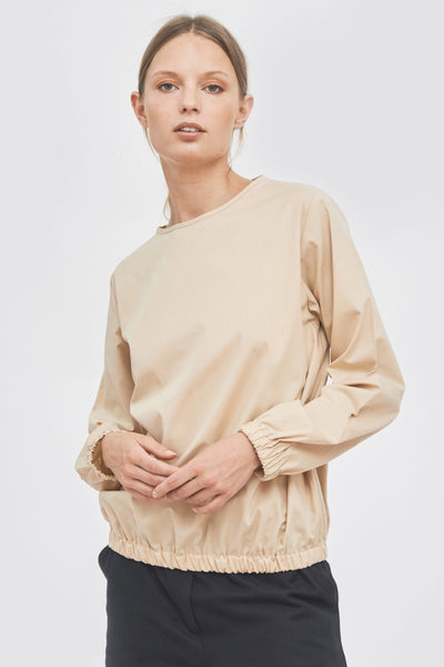 Sustainable Sleeve and hem elasticated blouse _ Mila.Vert