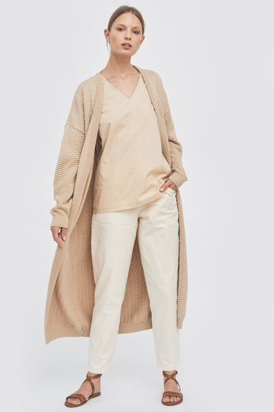 Sustainable Front detail long trousers _ Mila.Vert