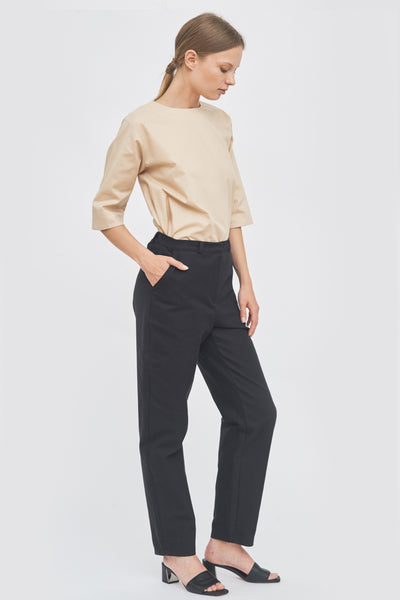 Sustainable Wide-leg long trousers _ Mila.Vert