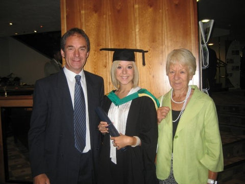 Lucy Knowles with her Father, Richard Knowles and Grandmother, Sheila