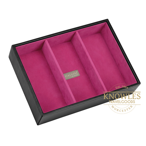 Stackers by LC Designs - Ladies Classic Deep 3 Section Jewellery Tray