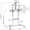 "TV Portable Trolley Stand | 60""-100"""