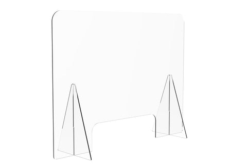 Protective Acrylic Sneeze Guard / Shield - 800x600x228mm