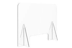 Protective Acrylic Sneeze Guard / Shield - 1200x600x228mm