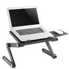 Sit or Stand Up Laptop Desk with Mouse Pad Side Mount