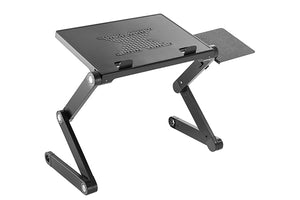 Laptop Sit or Stand Up Desk with Mouse Pad Side Mount