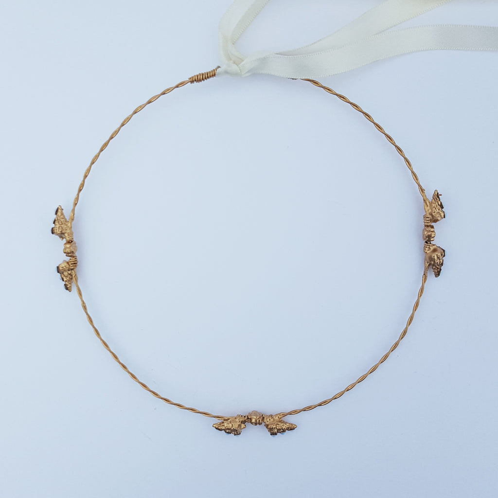 Tiny Dancer Gold Seashell Crown