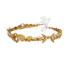 King of the Sea Gold Seashell Crown