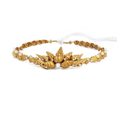 Queen of the Sea Gold Seashell Crown