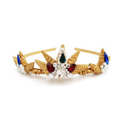 Jewel Gold Seashell Tiara
