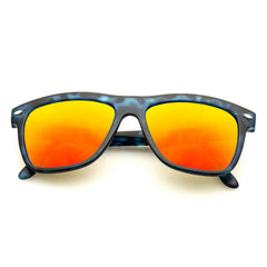 NESA Denim + Orange Mirror Lens Spektre Sunglasses