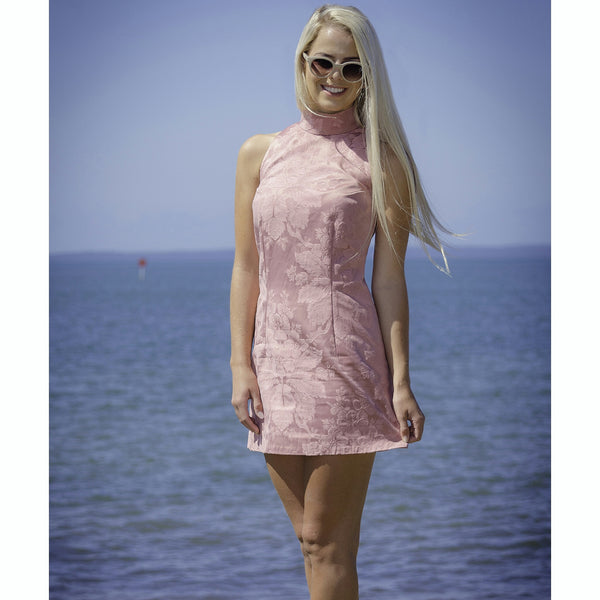 'Sound of Pink' Baroque Mini Dress