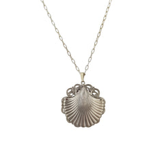 Silver Baroque Shell Necklace