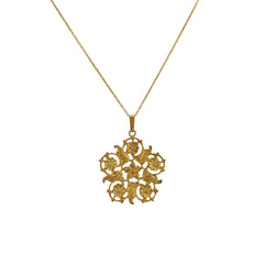 Gold Flowers Necklace