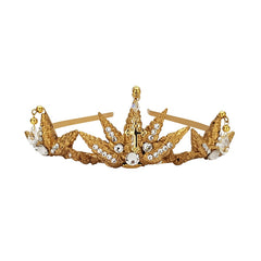 Aegean Gold Seashell Cross Tiara