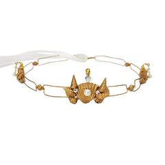 Mermaid Gold Seashell Crown