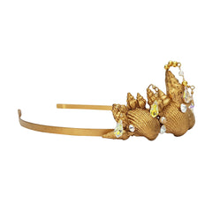 Heiress Gold Seashell Tiara