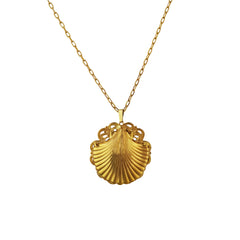 Gold Baroque Shell Necklace