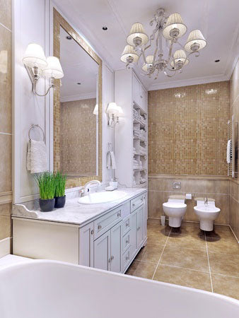 5 Reasons Why You Should Hang Your First Chandelier In Your Bathroom