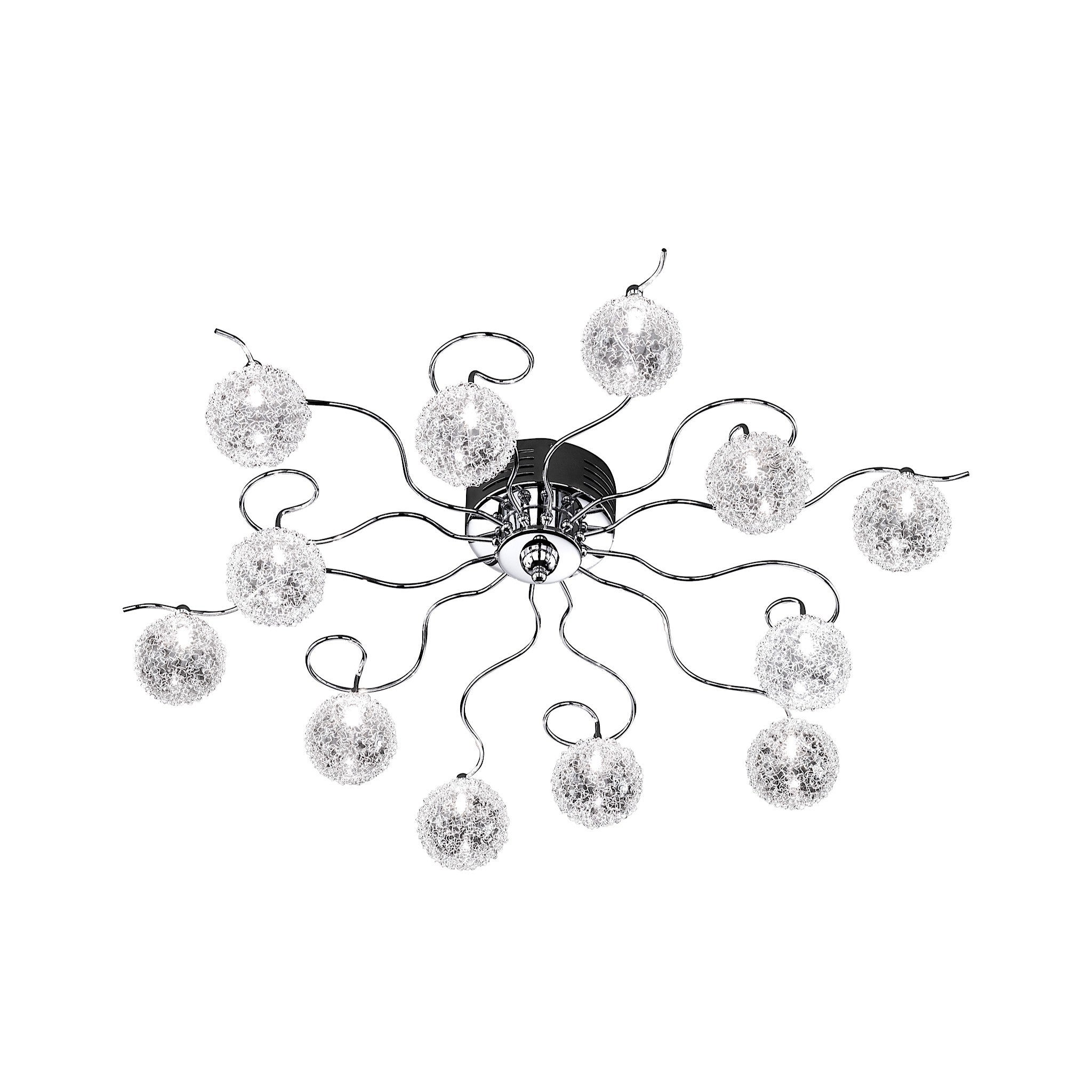 Wofi arc 12 light chrome ceiling light chandelier shack wofi arc 12 light chrome ceiling light 930612010000 aloadofball Choice Image