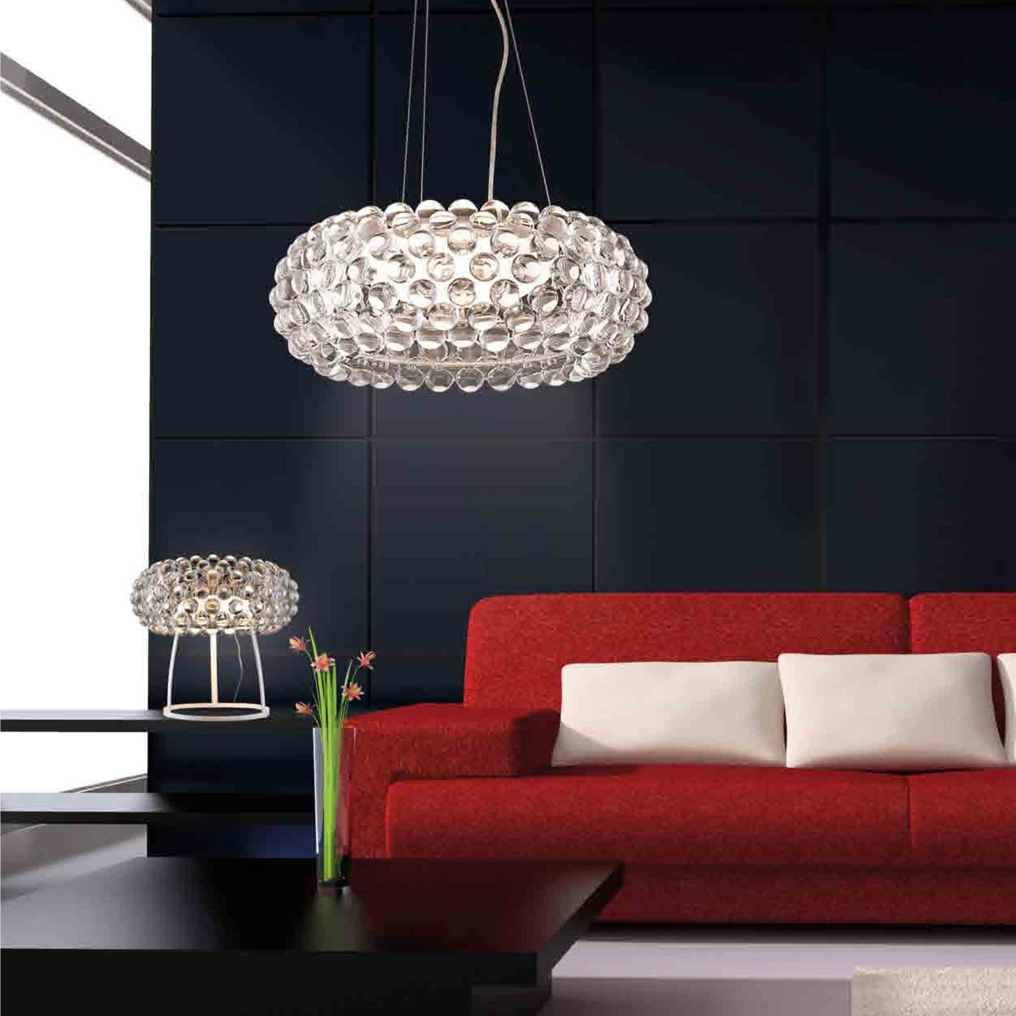 Living Room Pendant Lighting Azzardo Acrylio Large Clear Pendant Light Chandelier