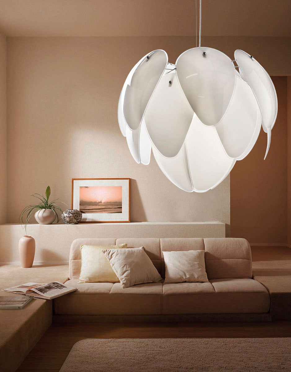 Azzardo antires white glass pine cone chandelier light chandelier azzardo antires white glass pine cone chandelier light living room lp5145 5 arubaitofo Choice Image