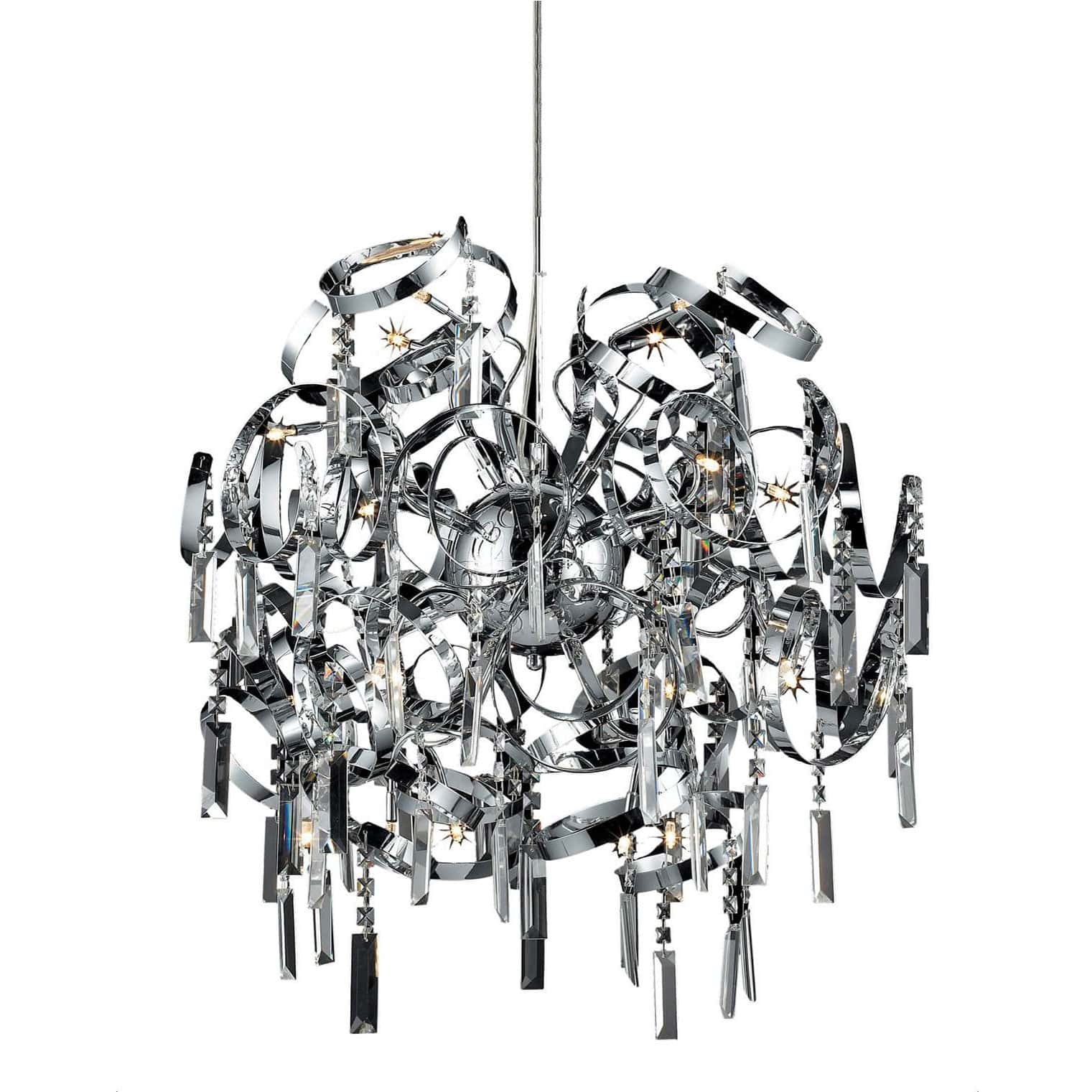 Azzardo crimps chrome silver metal crystal chandelier chandelier shack azzardo crimps chrome silver metal crystal chandelier mp 88046 16a mozeypictures Images