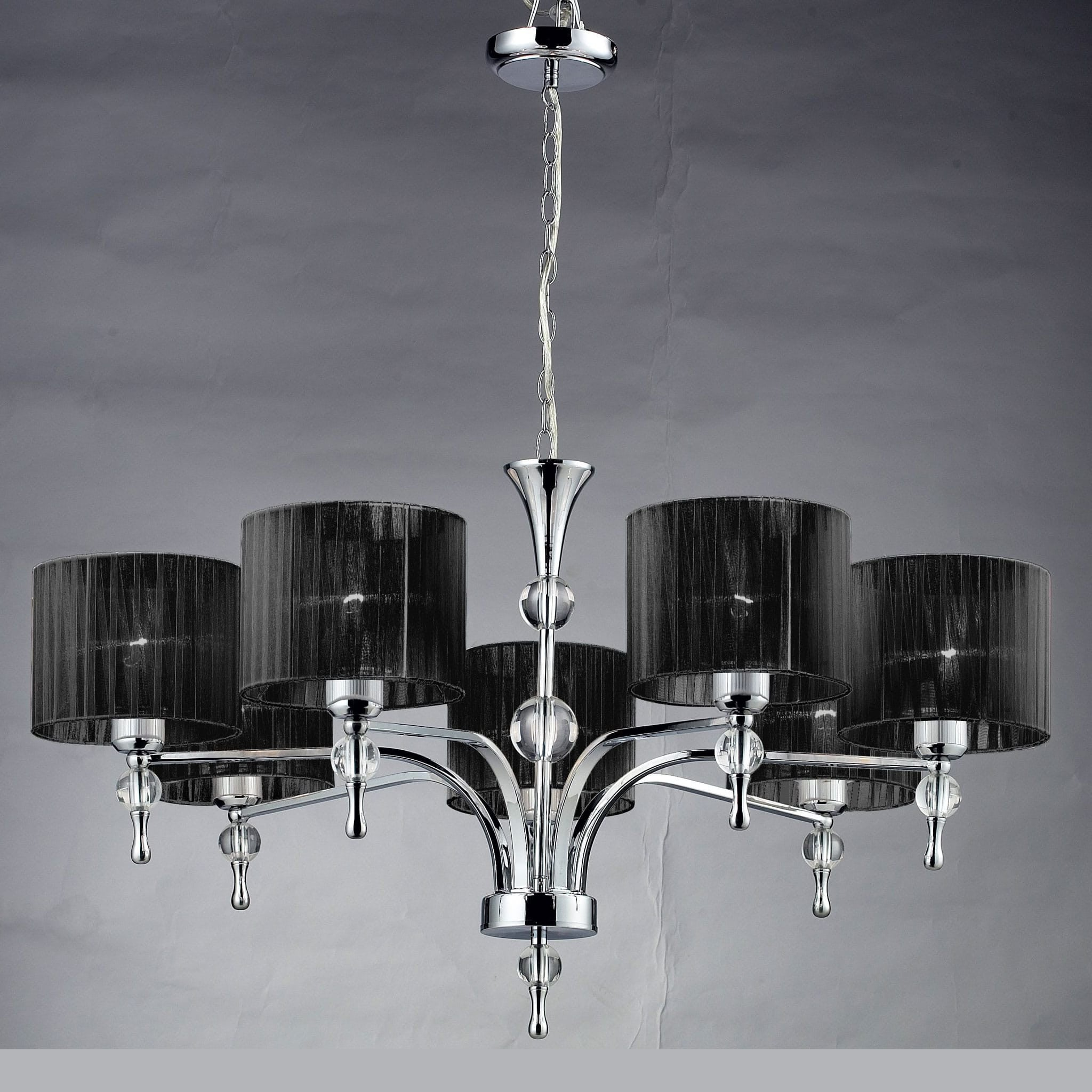 Azzardo impress 7 light chrome black shade chandelier chandelier azzardo impress 7 light chrome black shade chandelier 1976 7p bl mozeypictures