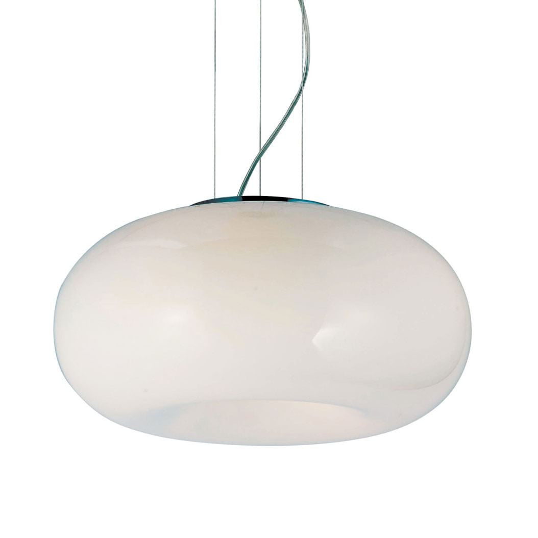 large glass pendant light. Azzardo Optima Large 5 Light White Glass Pendant AD-6014-5B .