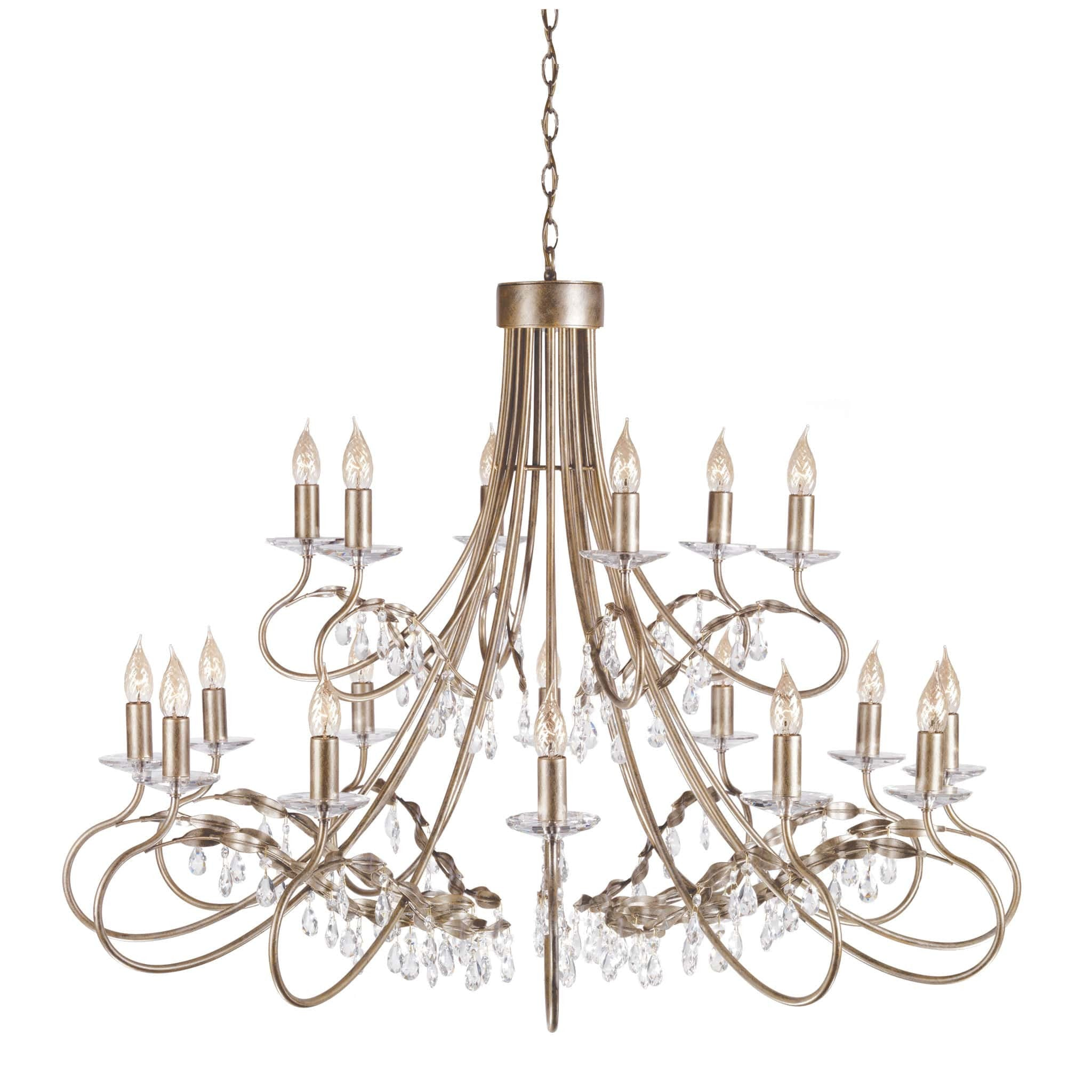 Elstead christina 18 light gold silver chandelier chandelier shack elstead christina 18 light gold silver candle chandelier crt18 silgold mozeypictures Image collections