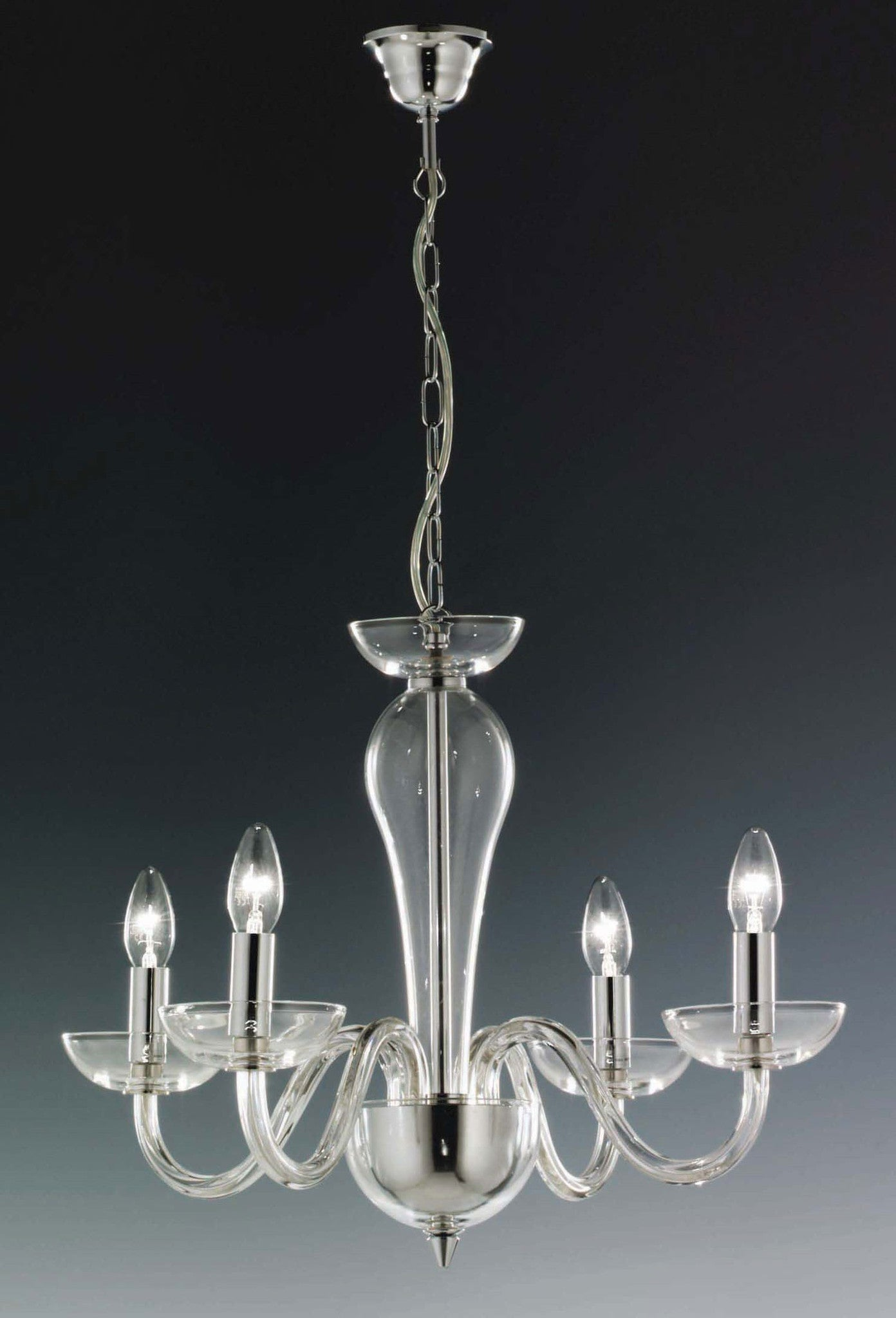 Elstead oxford 4 light chrome silver candle chandelier chandelier elstead oxford 4 light chrome silver candle chandelier drop ox4 aloadofball Images