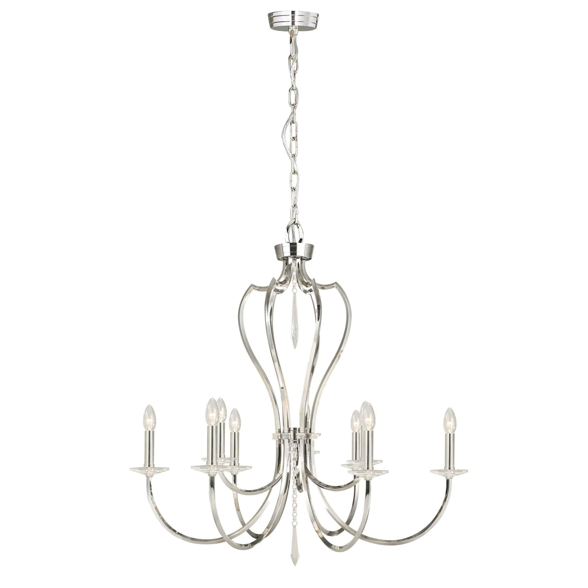 today aranya shipping overstock light chandelier product garden z home free nickel lite brushed