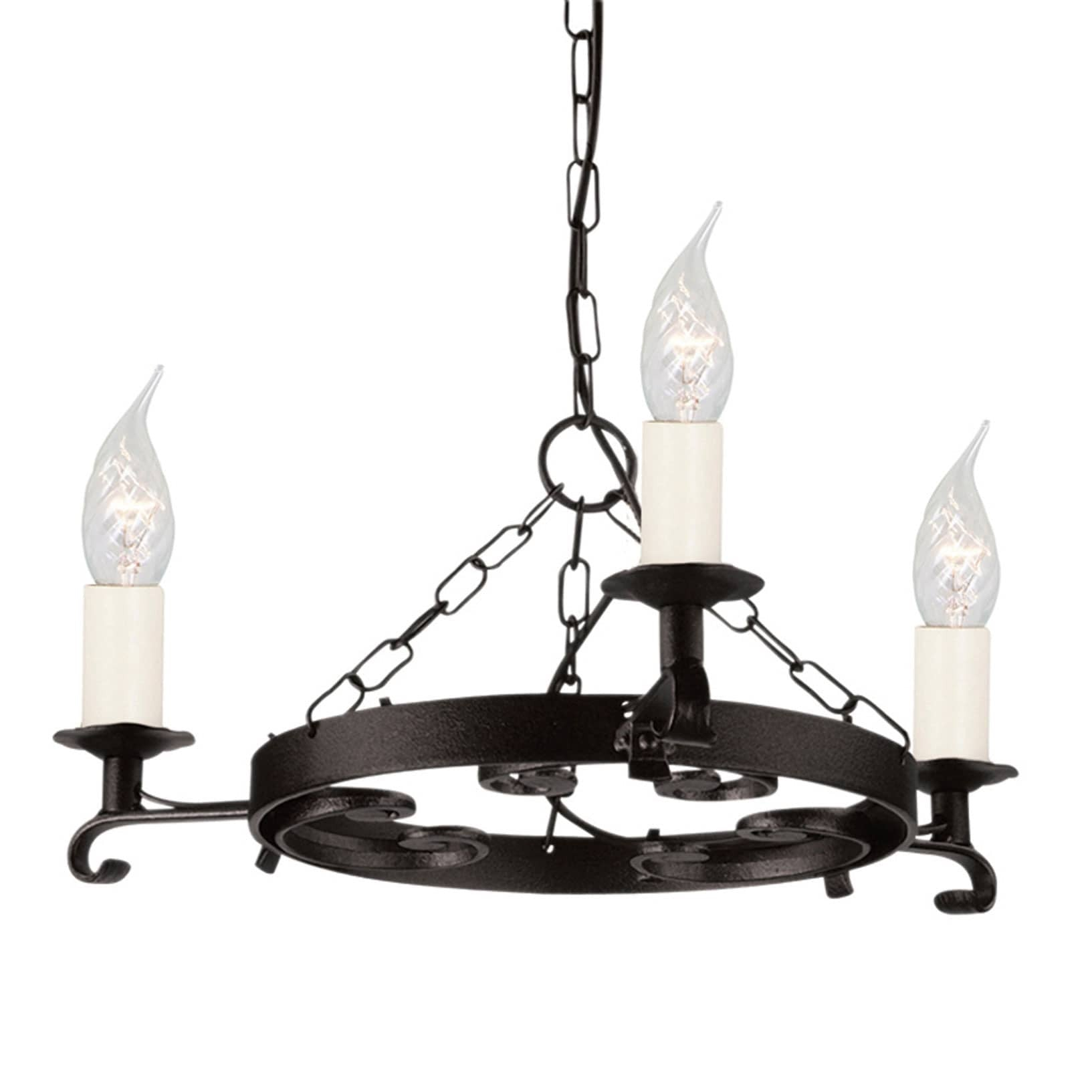Elstead rectory 3 light black metal candle chandelier chandelier shack elstead rectory 3 light black metal candle chandelier ry3 black aloadofball Gallery