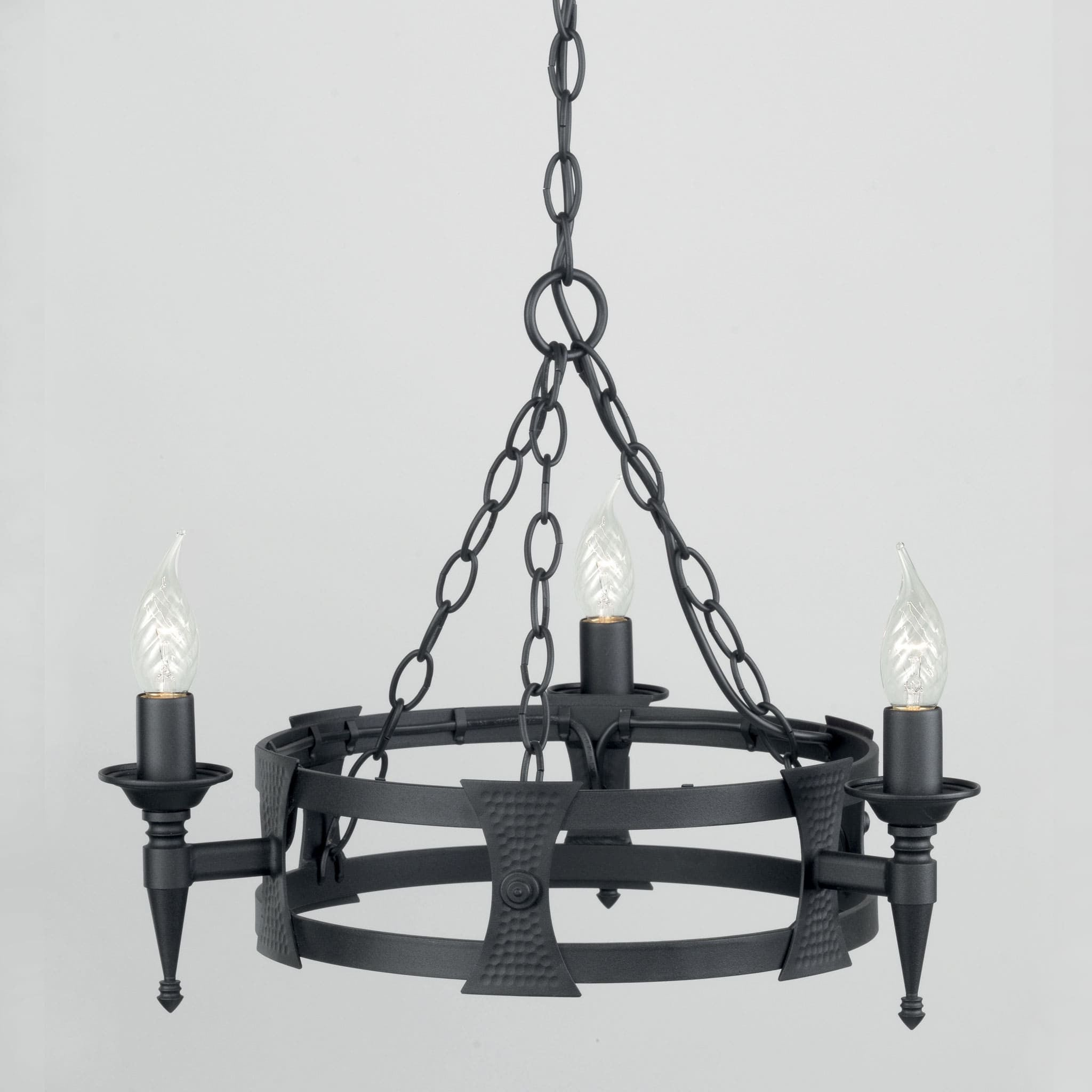 Elstead saxon 3 light black metal candle chandelier chandelier shack elstead saxon 3 light black metal candle chandelier sax3 blk aloadofball Gallery