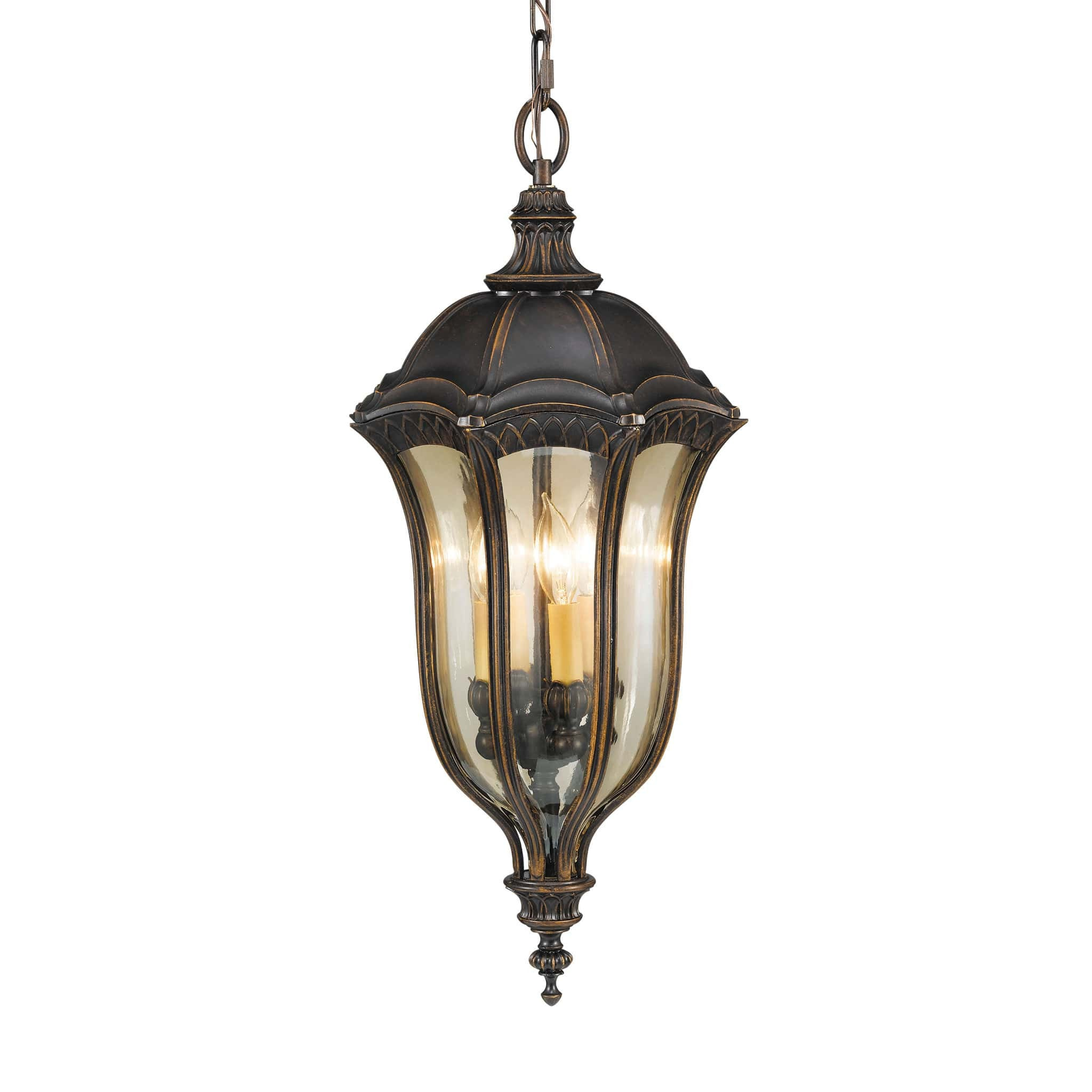 Feiss Baton Rouge 4 Light Chain Lantern Pendant Light | Chandelier Shack