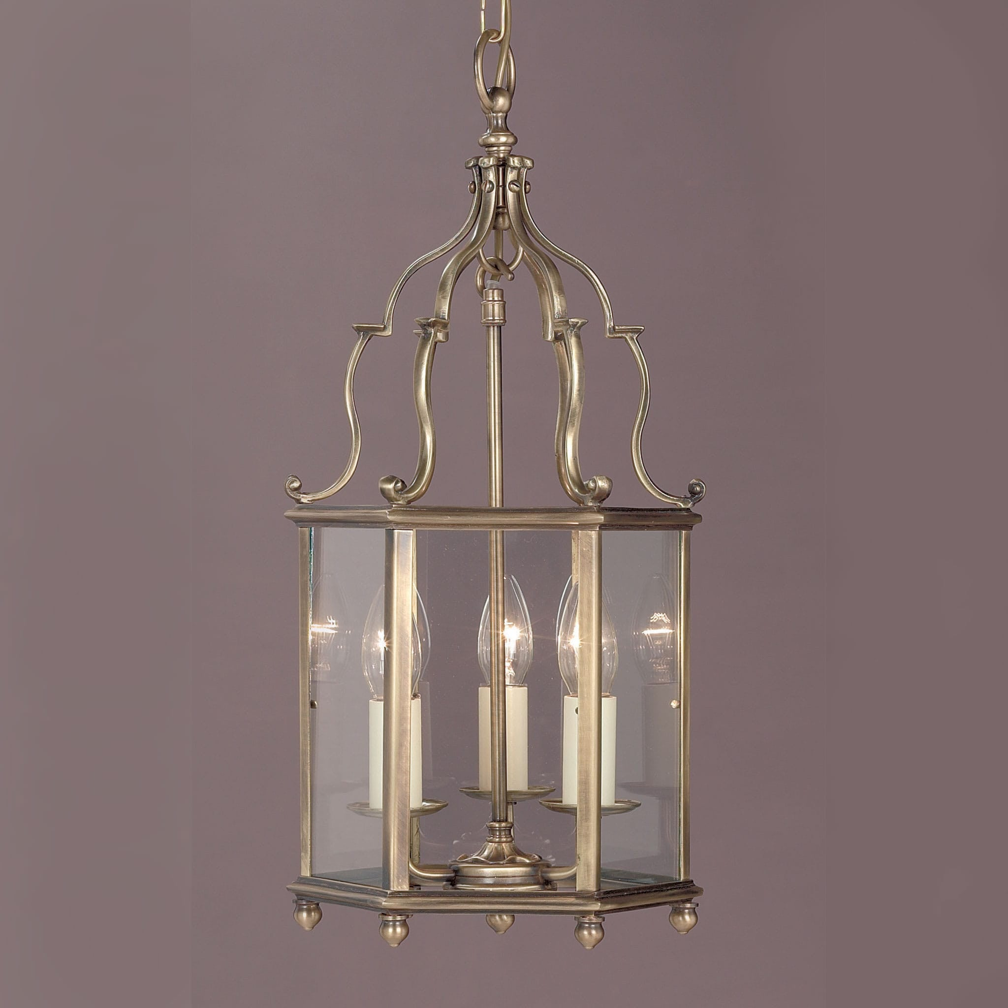pendant in leon polished nickel lantern light