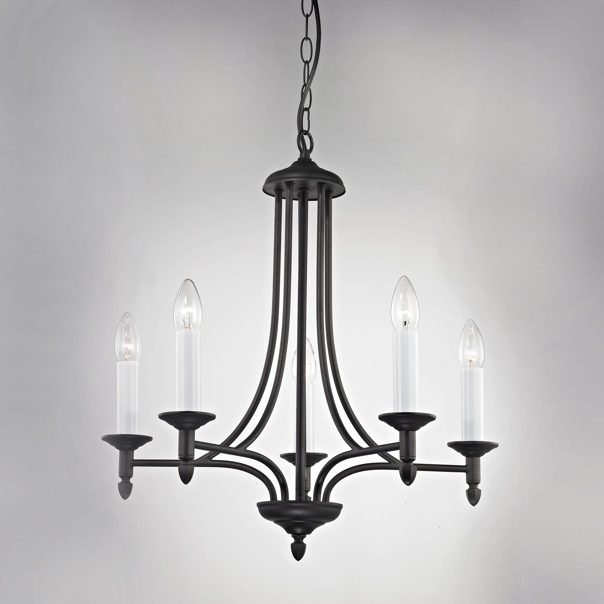 Impex canterbury 5 light black metal candle chandelier chandelier impex canterbury 5 light black metal candle chandelier smrr41120205blk arubaitofo Choice Image