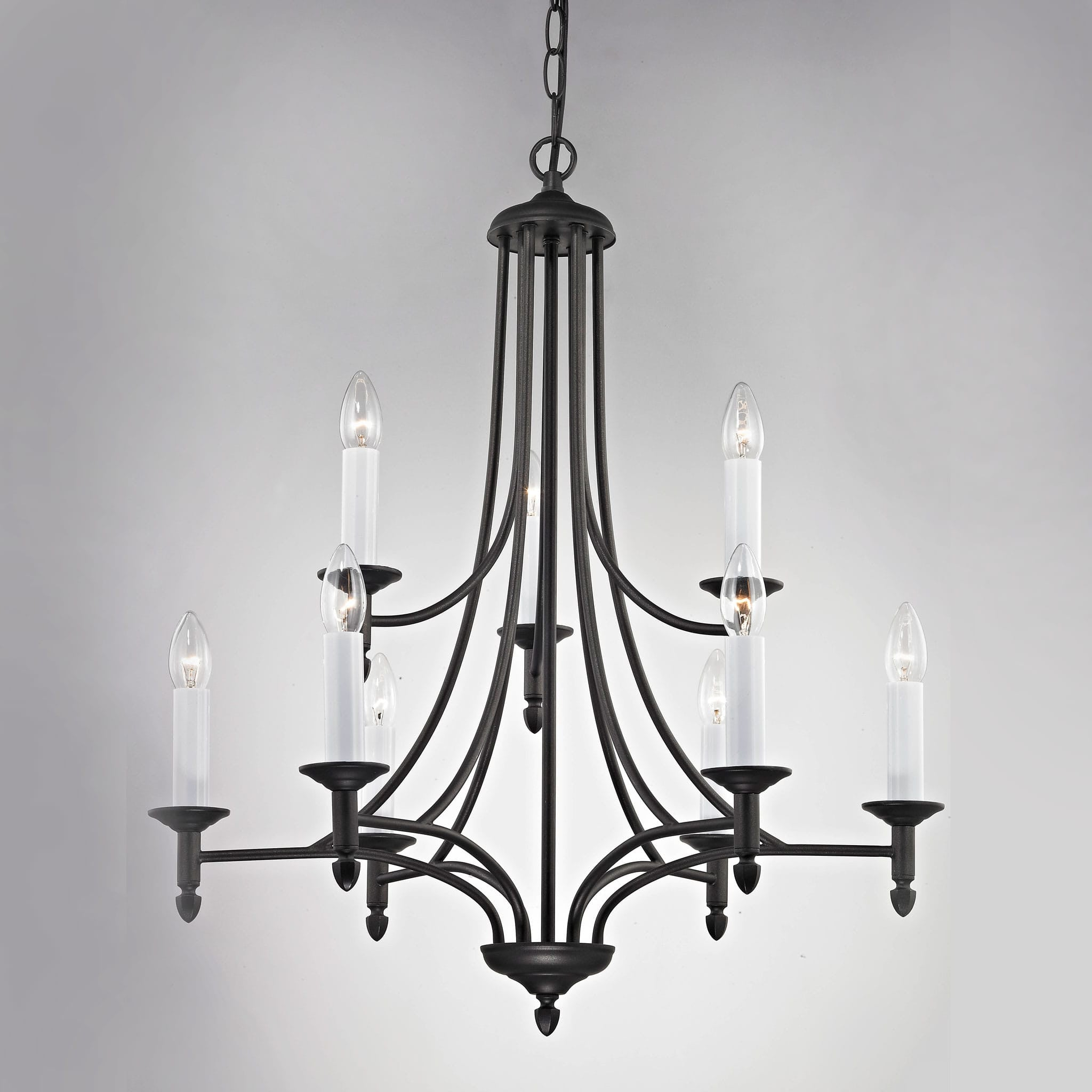 Impex canterbury 9 light black metal candle chandelier chandelier impex canterbury 9 light black metal candle chandelier smrr41120263blk arubaitofo Choice Image
