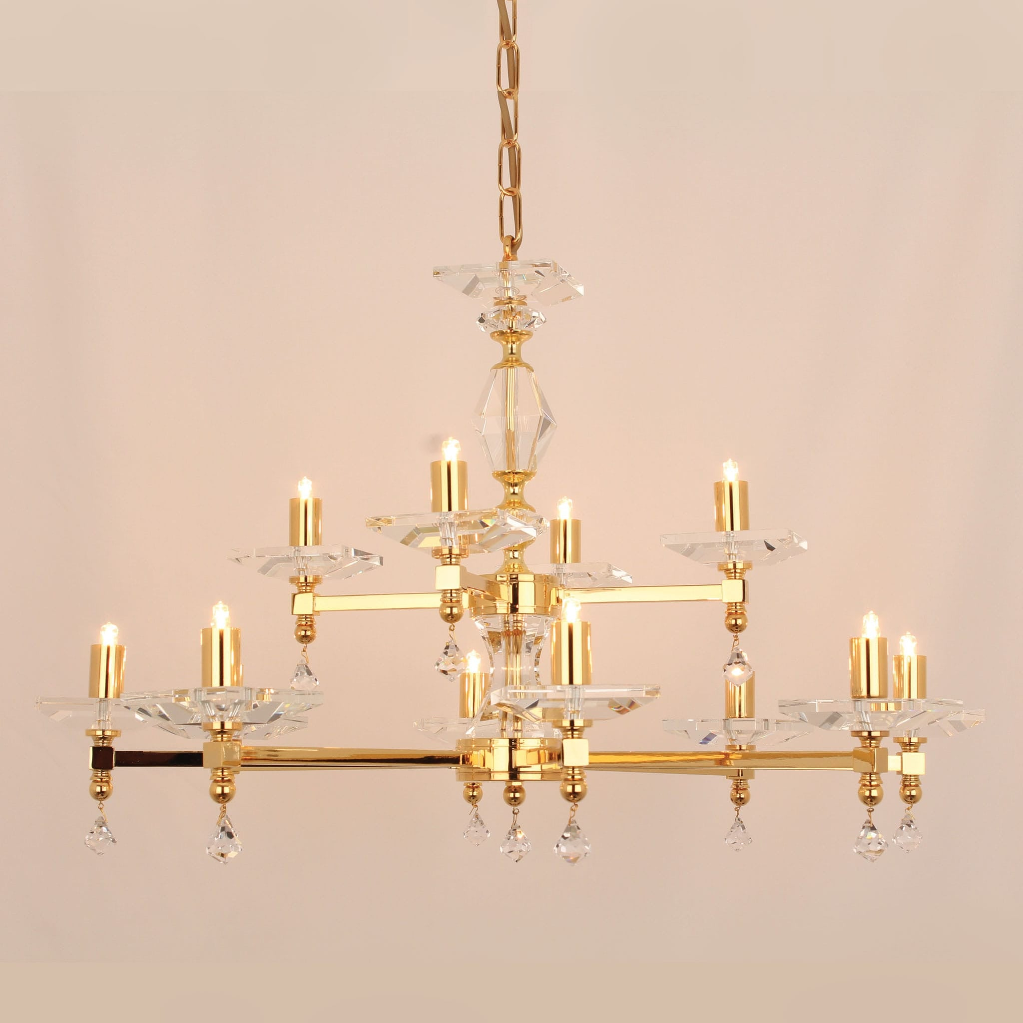 Impex capri 12 light gold optical glass chandelier chandelier shack impex capri 12 light gold optical glass chandelier sth0405484g mozeypictures Images