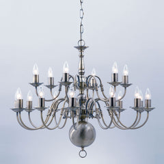 Flemish chandeliers buy online from chandelier shack impex flemish 18 light candle chandelier in gun metal bf00350126gm aloadofball Images