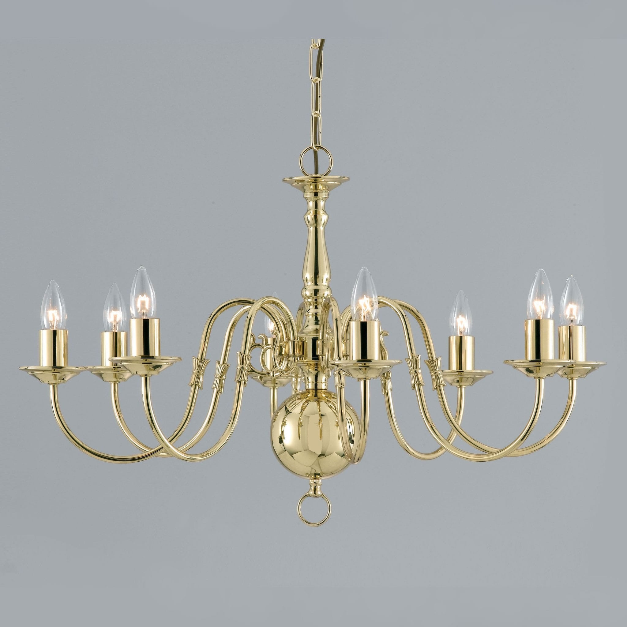 Impex flemish 8 light gold chandelier in polished brass chandelier impex flemish 8 light gold chandelier in polished brass bf0035008pb arubaitofo Gallery