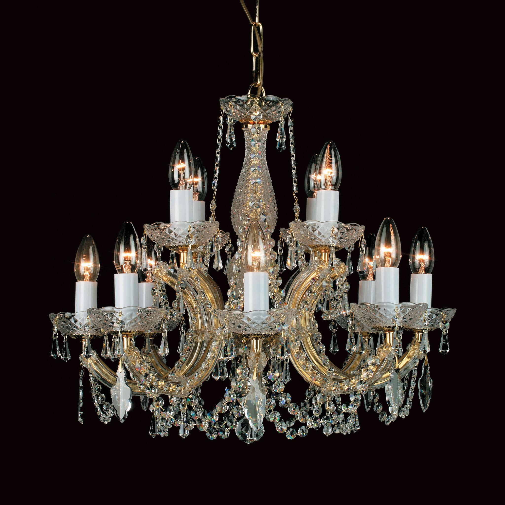 Impex marie therese 12 light gold crystal chandelier chandelier shack impex marie therese 12 light gold crystal chandelier cp0015084g aloadofball Image collections